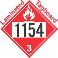 Flammable Class 3 UN1154 Tagboard DOT Placard