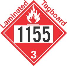 Flammable Class 3 UN1155 Tagboard DOT Placard