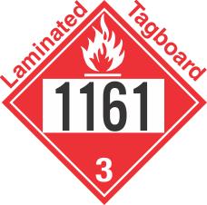 Flammable Class 3 UN1161 Tagboard DOT Placard