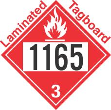 Flammable Class 3 UN1165 Tagboard DOT Placard