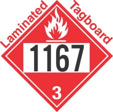 Flammable Class 3 UN1167 Tagboard DOT Placard