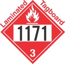Flammable Class 3 UN1171 Tagboard DOT Placard