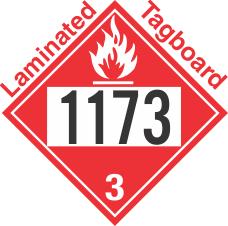 Flammable Class 3 UN1173 Tagboard DOT Placard