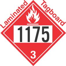Flammable Class 3 UN1175 Tagboard DOT Placard