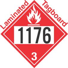 Flammable Class 3 UN1176 Tagboard DOT Placard
