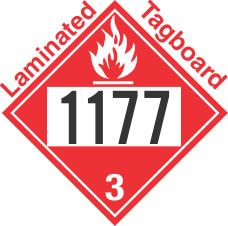 Flammable Class 3 UN1177 Tagboard DOT Placard