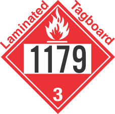 Flammable Class 3 UN1179 Tagboard DOT Placard