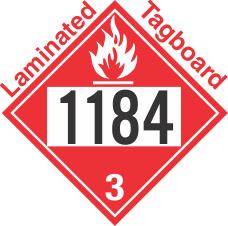 Flammable Class 3 UN1184 Tagboard DOT Placard