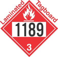 Flammable Class 3 UN1189 Tagboard DOT Placard