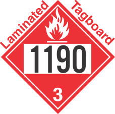 Flammable Class 3 UN1190 Tagboard DOT Placard