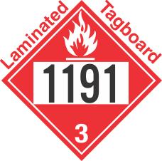 Flammable Class 3 UN1191 Tagboard DOT Placard