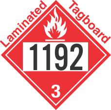 Flammable Class 3 UN1192 Tagboard DOT Placard