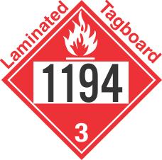 Flammable Class 3 UN1194 Tagboard DOT Placard