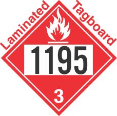 Flammable Class 3 UN1195 Tagboard DOT Placard