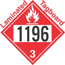 Flammable Class 3 UN1196 Tagboard DOT Placard