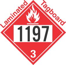 Flammable Class 3 UN1197 Tagboard DOT Placard