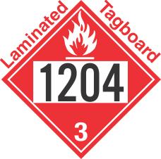 Flammable Class 3 UN1204 Tagboard DOT Placard