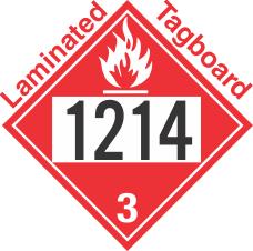 Flammable Class 3 UN1214 Tagboard DOT Placard