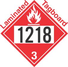 Flammable Class 3 UN1218 Tagboard DOT Placard