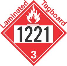 Flammable Class 3 UN1221 Tagboard DOT Placard