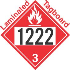 Flammable Class 3 UN1222 Tagboard DOT Placard