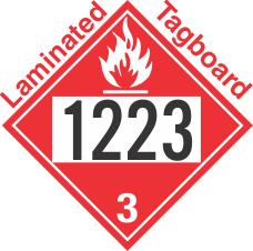 Flammable Class 3 UN1223 Tagboard DOT Placard