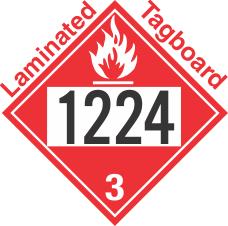 Flammable Class 3 UN1224 Tagboard DOT Placard