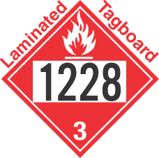Flammable Class 3 UN1228 Tagboard DOT Placard