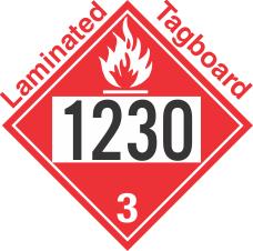 Flammable Class 3 UN1230 Tagboard DOT Placard