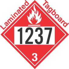Flammable Class 3 UN1237 Tagboard DOT Placard