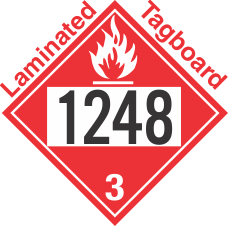 Flammable Class 3 UN1248 Tagboard DOT Placard