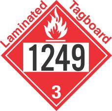 Flammable Class 3 UN1249 Tagboard DOT Placard