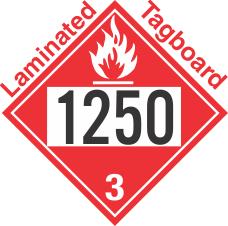Flammable Class 3 UN1250 Tagboard DOT Placard