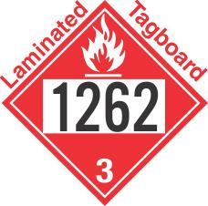 Flammable Class 3 UN1262 Tagboard DOT Placard