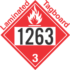Flammable Class 3 UN1263 Tagboard DOT Placard