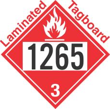 Flammable Class 3 UN1265 Tagboard DOT Placard