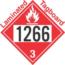 Flammable Class 3 UN1266 Tagboard DOT Placard