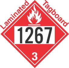 Flammable Class 3 UN1267 Tagboard DOT Placard