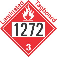 Flammable Class 3 UN1272 Tagboard DOT Placard