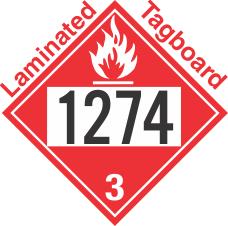 Flammable Class 3 UN1274 Tagboard DOT Placard