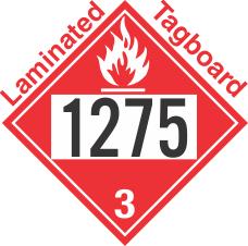 Flammable Class 3 UN1275 Tagboard DOT Placard