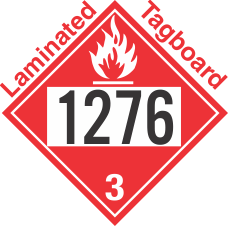 Flammable Class 3 UN1276 Tagboard DOT Placard
