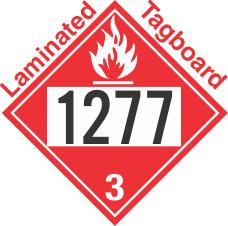 Flammable Class 3 UN1277 Tagboard DOT Placard