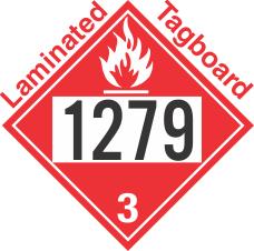 Flammable Class 3 UN1279 Tagboard DOT Placard