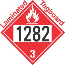Flammable Class 3 UN1282 Tagboard DOT Placard