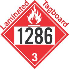 Flammable Class 3 UN1286 Tagboard DOT Placard