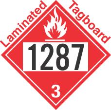 Flammable Class 3 UN1287 Tagboard DOT Placard