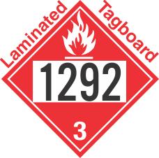 Flammable Class 3 UN1292 Tagboard DOT Placard