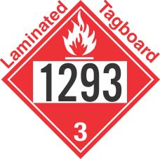 Flammable Class 3 UN1293 Tagboard DOT Placard