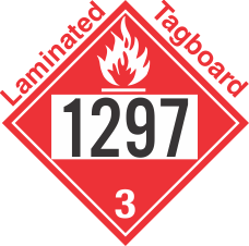 Flammable Class 3 UN1297 Tagboard DOT Placard